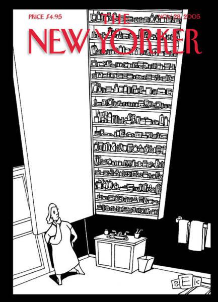Bathroom Painting - New Yorker November 28th, 2005 by Bruce Eric Kaplan
