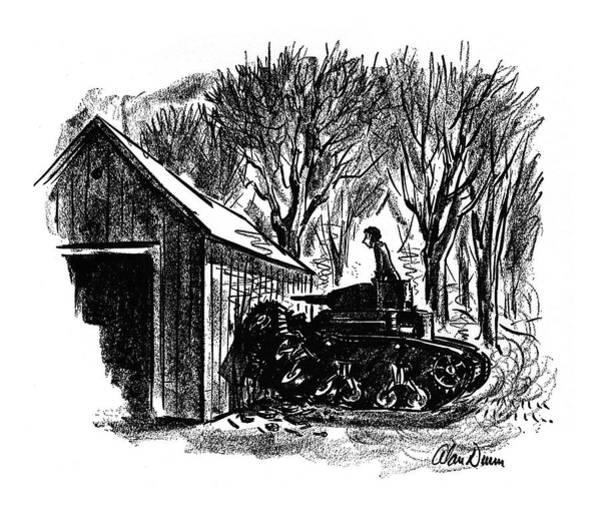 Barn Drawing - New Yorker November 29th, 1941 by Alan Dunn