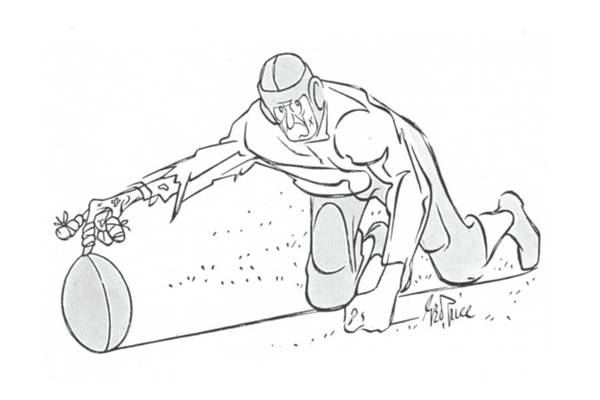 Team Player Drawing - New Yorker November 2nd, 1940 by George Price