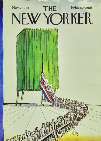 Election Painting - New Yorker November 2nd 1968 by Arthur Getz