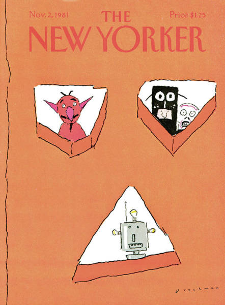 Halloween Painting - New Yorker November 2nd, 1981 by RO Blechman
