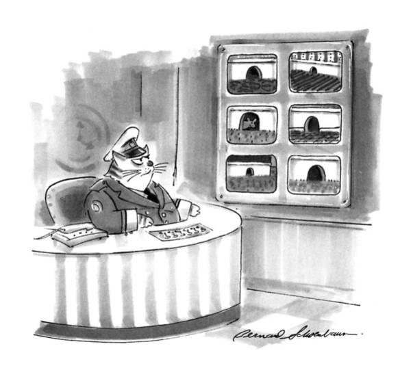 November 2nd Drawing - New Yorker November 2nd, 1992 by Bernard Schoenbaum