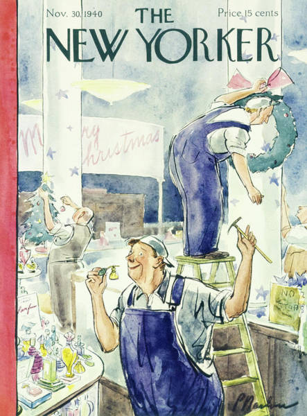 Illustration Painting - New Yorker November 30 1940 by Perry Barlow