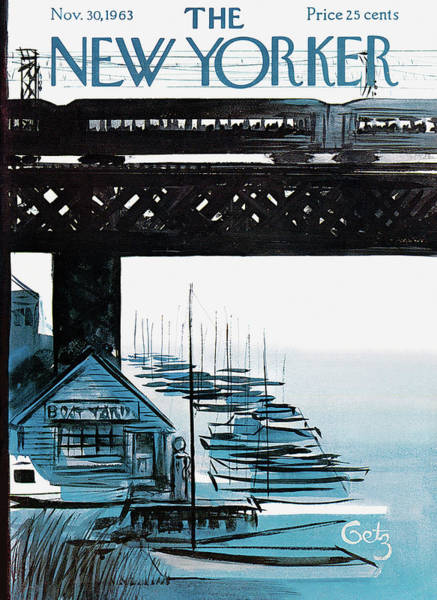 Nautical Painting - New Yorker November 30th, 1963 by Arthur Getz