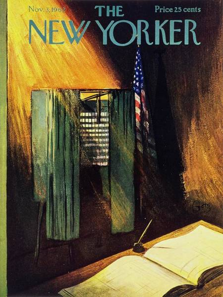 Election Painting - New Yorker November 3rd 1962 by Arthur Getz