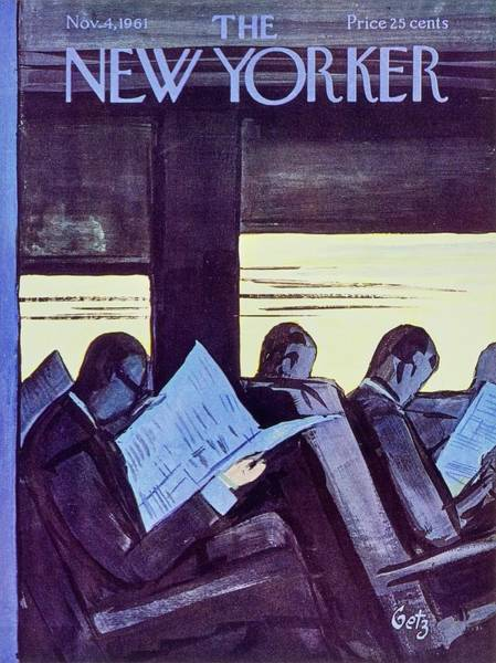 City Life Painting - New Yorker November 4th 1961 by Arthur Getz