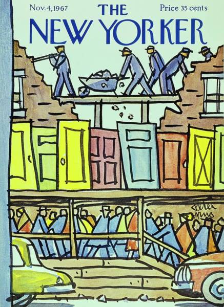 City Life Painting - New Yorker November 4th 1967 by Peter Arno