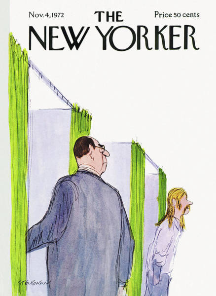 Campaign Painting - New Yorker November 4th, 1972 by James Stevenson