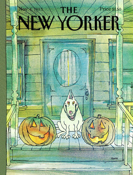 Pet Painting - New Yorker November 4th, 1985 by George Booth