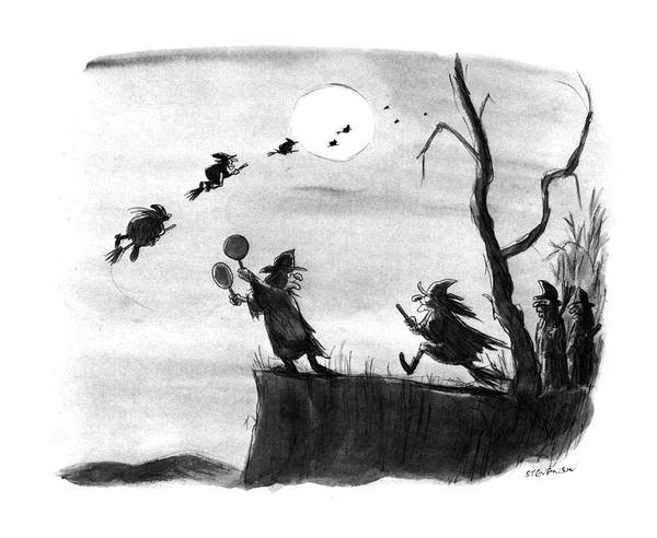 Halloween Drawing - New Yorker November 4th, 1985 by James Stevenson
