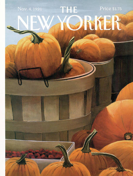4 Seasons Painting - New Yorker November 4th, 1991 by Gretchen Dow Simpson