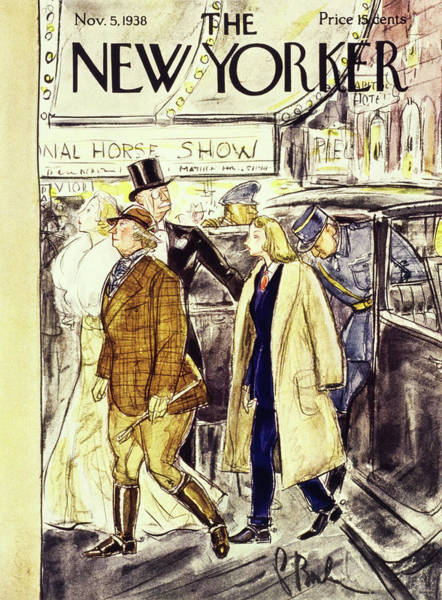 Car Show Painting - New Yorker November 5 1938 by Perry Barlow