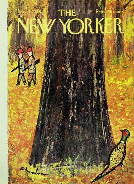 1960s Painting - New Yorker November 5th 1966 by Aaron Birnbaum