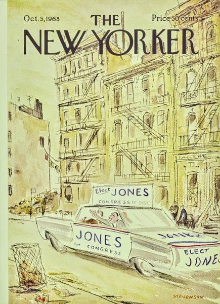 Election Painting - New Yorker November 5th 1968 by James Stevenson