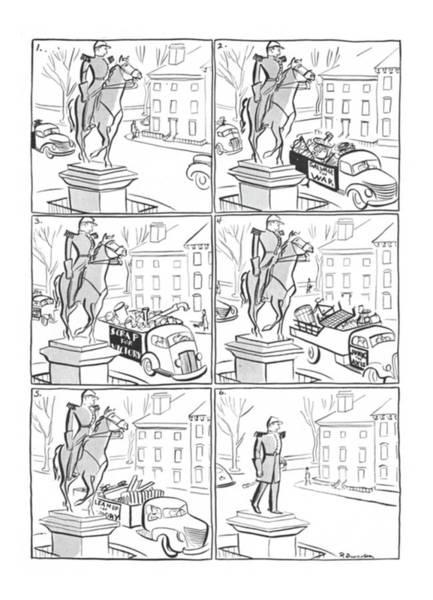 Iron Drawing - New Yorker November 7th, 1942 by Roger Duvoisin