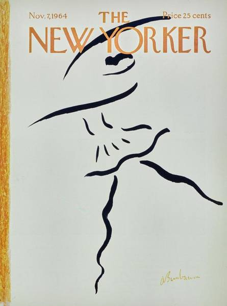 Text Painting - New Yorker November 7th 1964 by Aaron Birnbaum