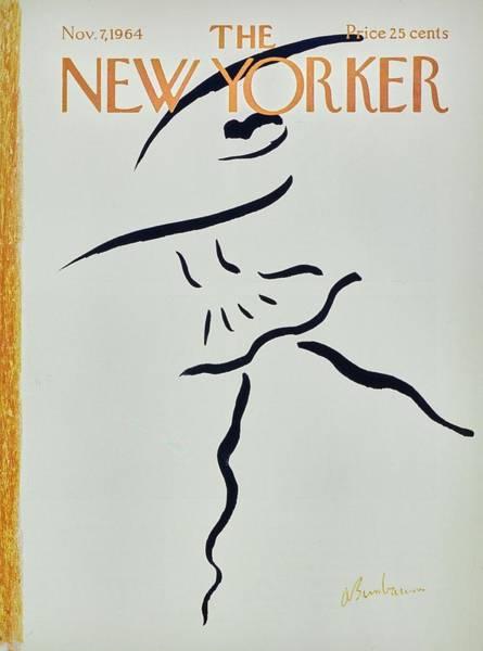 Black Painting - New Yorker November 7th 1964 by Aaron Birnbaum