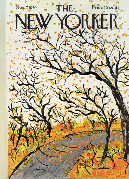 Fall Painting - New Yorker November 7th, 1970 by Abe Birnbaum