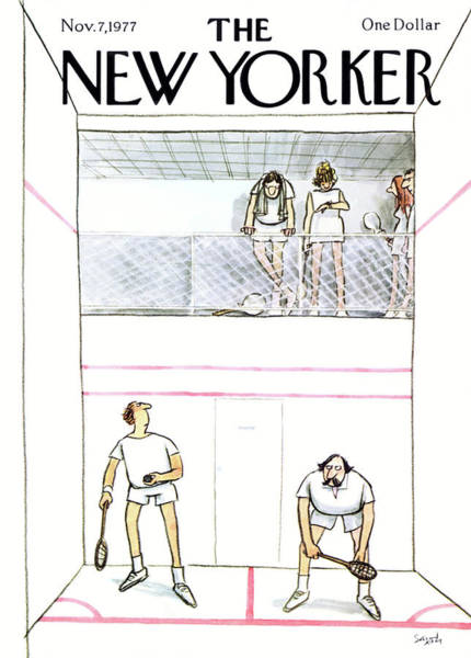 Sport Painting - New Yorker November 7th, 1977 by Charles Saxon