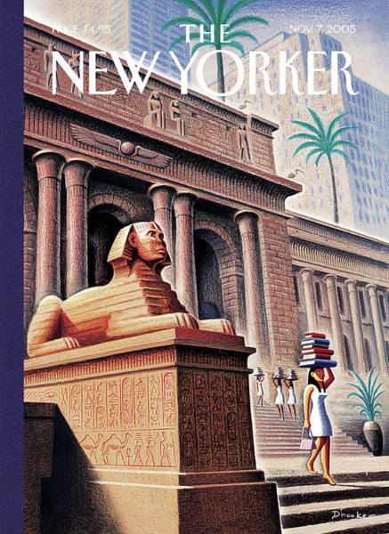 News Painting - New Yorker November 7th, 2005 by Eric Drooker