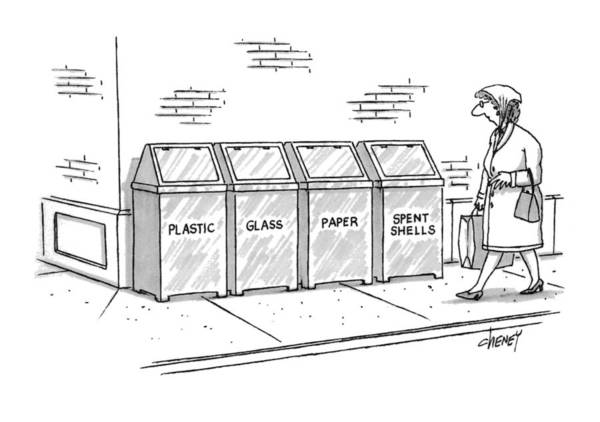 Recycling Drawing - New Yorker November 8th, 1993 by Tom Cheney