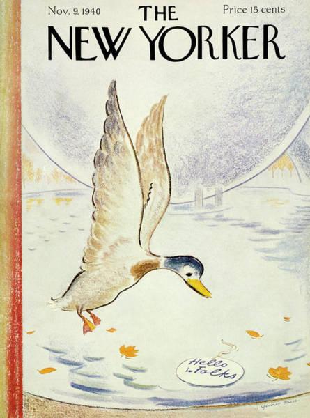 Wildlife Painting - New Yorker November 9 1940 by Garrett Price
