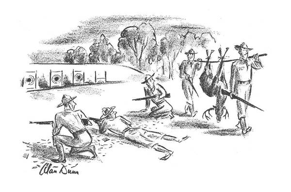 Target Drawing - New Yorker November 9th, 1940 by Alan Dunn