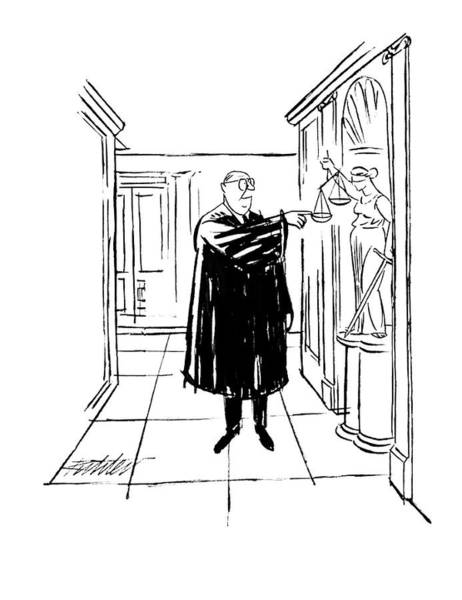 Legal Drawing - New Yorker November 9th, 1963 by Mischa Richter