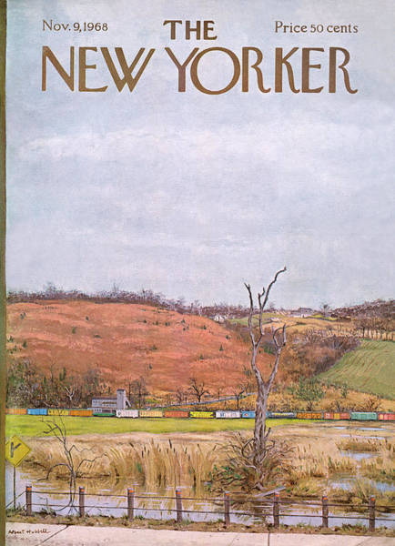 Countryside Painting - New Yorker November 9th, 1968 by Albert Hubbell