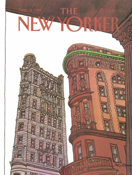 Skyscrapers Painting - New Yorker November 9th, 1981 by Roxie Munro