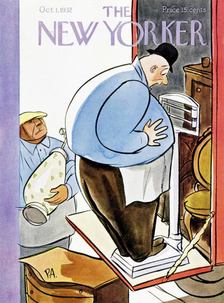 Magazine Cover Painting - New Yorker October 1 1932 by Peter Arno