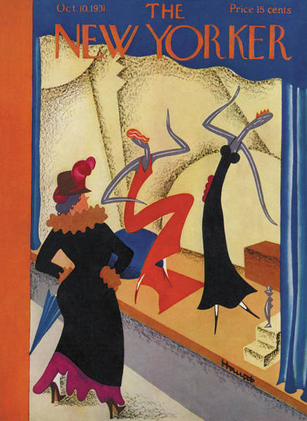 Window Display Painting - New Yorker October 10th, 1931 by Theodore G. Haupt