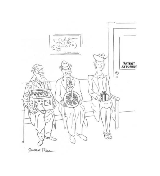 Invent Drawing - New Yorker October 10th, 1942 by Garrett Price