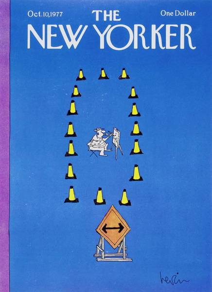 Traffic Painting - New Yorker October 10th 1977 by Arnie Levin
