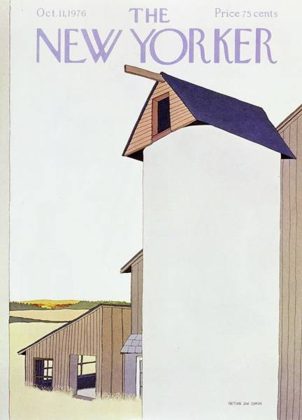 Countryside Painting - New Yorker October 11th 1976 by Gretchen Dow Simpson