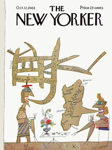 Italy Painting - New Yorker October 12th, 1963 by Saul Steinberg