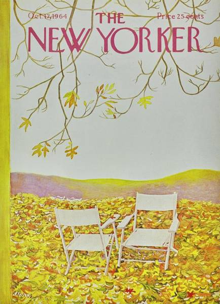 Outdoor Painting - New Yorker October 12th 1964 by Ilonka Karasz