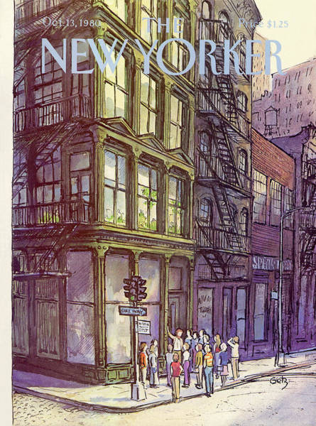 Architecture Painting - New Yorker October 13th, 1980 by Arthur Getz