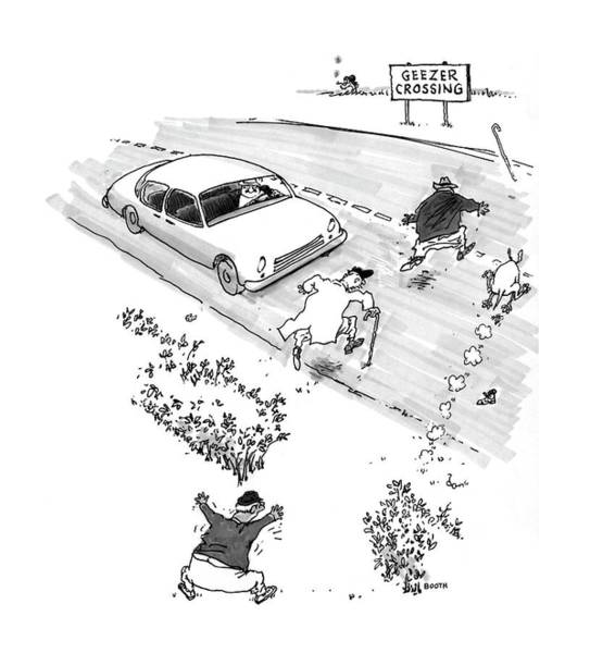 Drawing - New Yorker October 13th, 1997 by George Booth