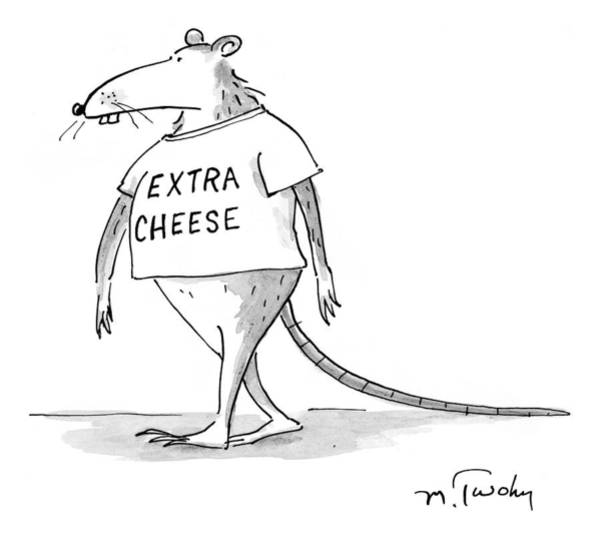 Cheese Drawing - New Yorker October 13th, 1997 by Mike Twohy