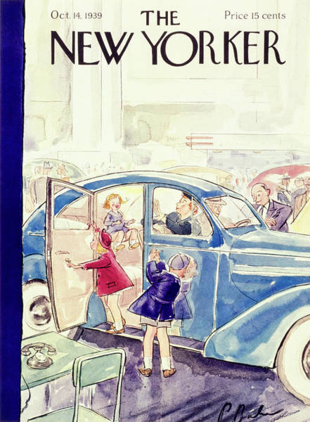 Adult Painting - New Yorker October 14 1939 by Perry Barlow