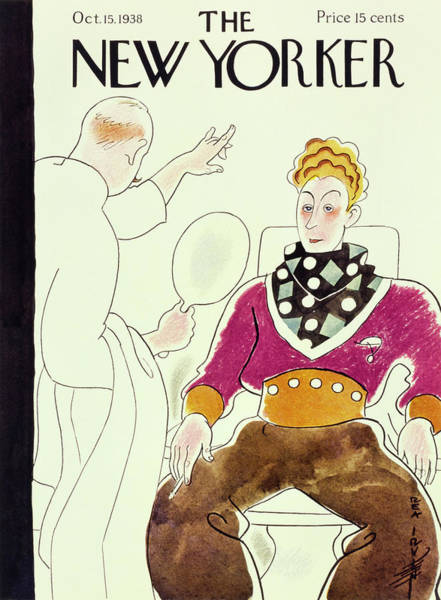 Barbershop Painting - New Yorker October 15 1938 by Rea Irvin