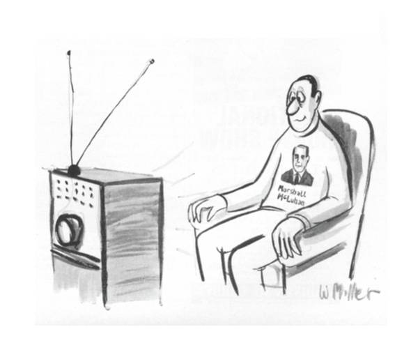 Television Program Wall Art - Drawing - New Yorker October 15th, 1966 by Warren Miller