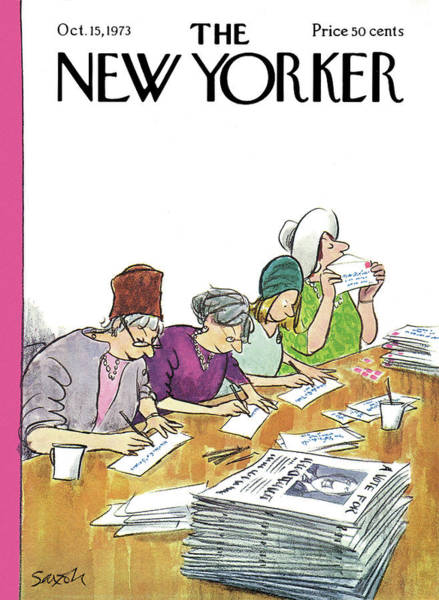 Campaign Painting - New Yorker October 15th, 1973 by Charles Saxon
