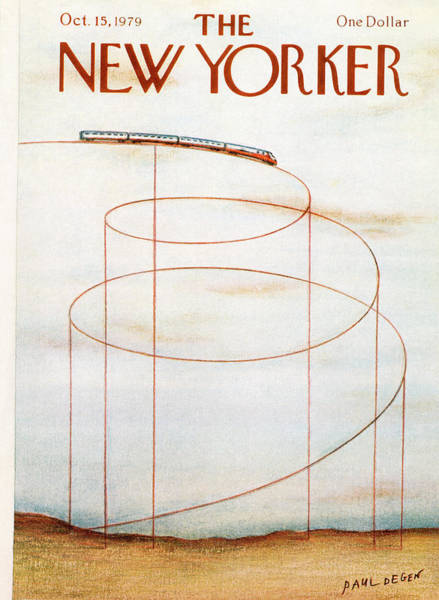 Travel Painting - New Yorker October 15th, 1979 by Paul Degen