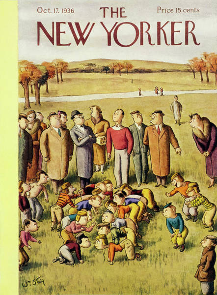Adult Painting - New Yorker October 17 1936 by William Steig