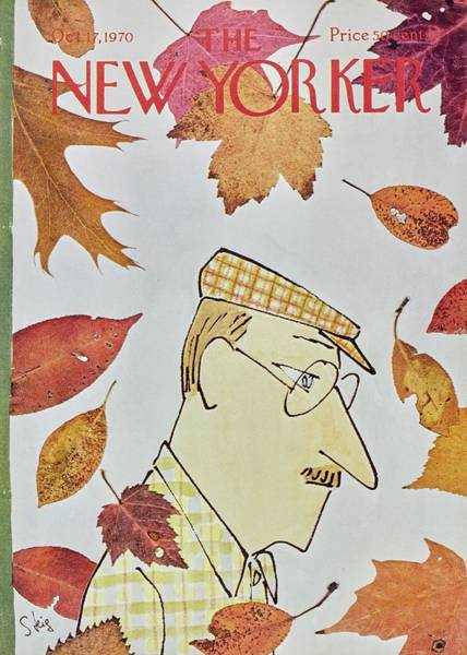 Male Portrait Painting - New Yorker October 17th 1970 by William Steig