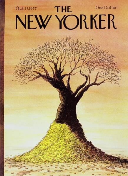 Cloud Painting - New Yorker October 17th 1977 by Robert Weber
