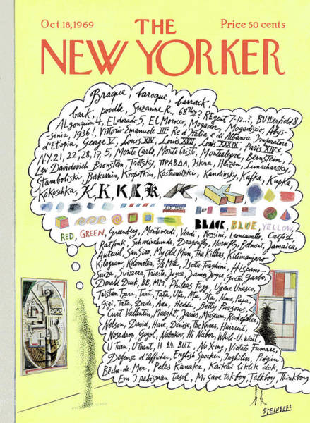 Artwork Painting - New Yorker October 18th, 1969 by Saul Steinberg