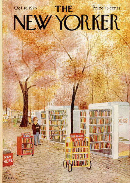 Nyc Painting - New Yorker October 18th, 1976 by Charles E Martin